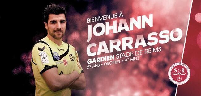Officiel : Johann Carrasso quitte Metz et signe à Reims