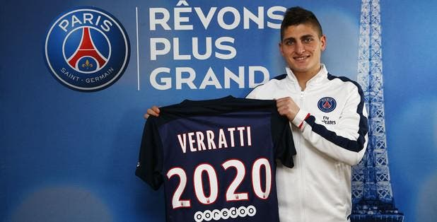 Officiel : Marco Verratti prolonge au PSG jusqu'en 2020