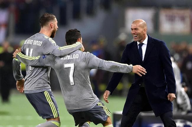 Zidane-Cristiano Ronaldo, l'image de la soirée