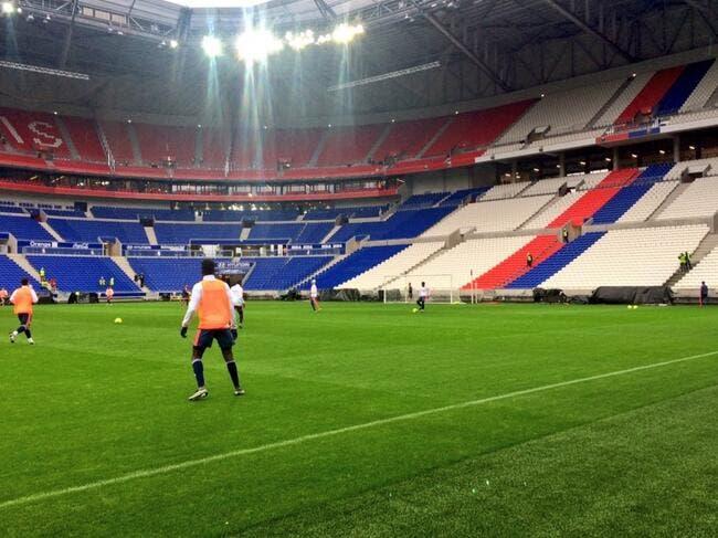 Photos : Les joueurs de l'OL testent leur nouveau stade