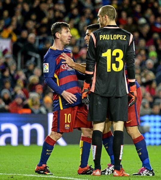Vidéo : L'agression du gardien de l'Espanyol sur Lionel Messi