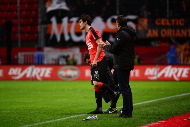 Yoann Gourcuff victime d'un tacle...d'un coéquipier rennais