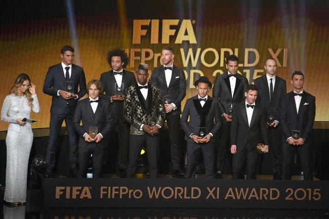 FIFA : Le onze type de l'année 2015 dévoilé