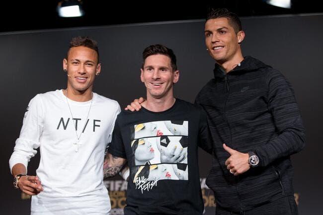 Neymar, Messi, Ronaldo, la photo qui vend du rêve