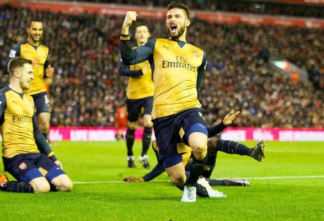 Giroud cartonne sous le déluge, mais Leicester rattrape Arsenal