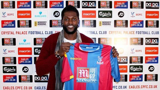 Adebayor signe pour six mois à Crystal Palace