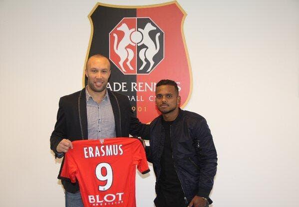 Officiel : Rennes s'offre l'attaquant Kermit Erasmus