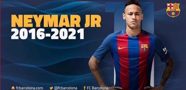 Officiel: Neymar prolonge avec une clause anti-PSG