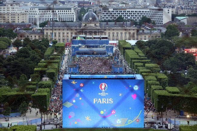 Euro 2016 : Incidents au pied de la Tour Eiffel
