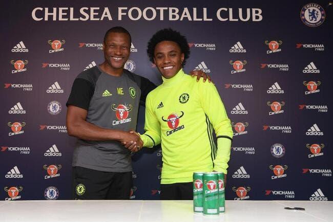 Officiel : Willian prolonge à Chelsea jusqu'en 2020