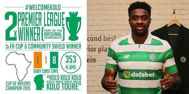 Mercato : Kolo Touré signe pour un an au Celtic