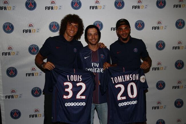 PSG : Louis Tomlinson des One Direction défié par David Luiz et Kurzawa