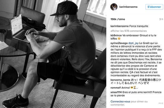 Karim Benzema communique de manière énigmatique sur Instagram