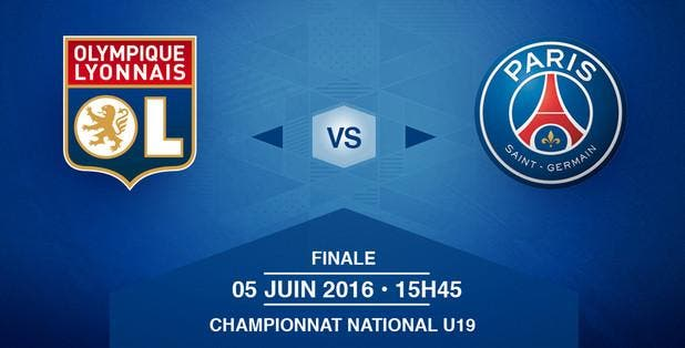 Live Vidéo : La finale U19 OL-PSG en direct à partir de 16h
