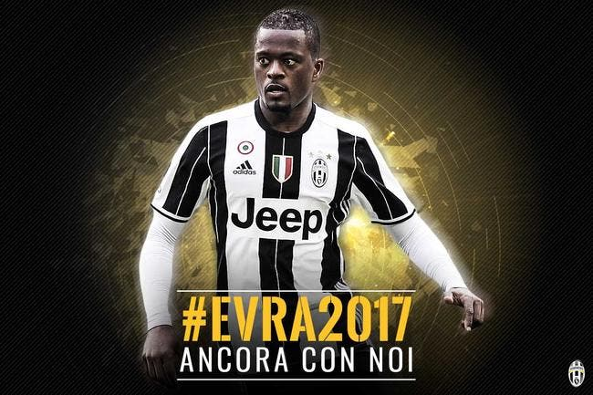 Italie : Patrice Evra prolonge d'un an à la Juventus