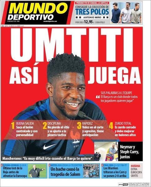OL : Barcelone voit Umtiti comme le Thiago Silva français