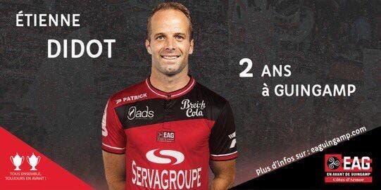 Officiel : Etienne Didot quitte le TFC et signe à Guingamp
