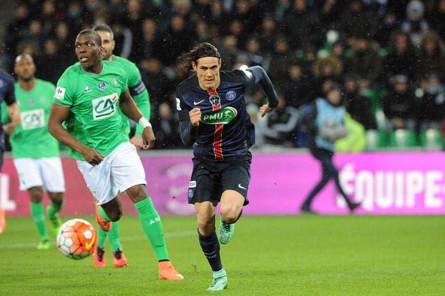 Vidéo : L'ouverture du score du PSG signée Cavani contre l'ASSE