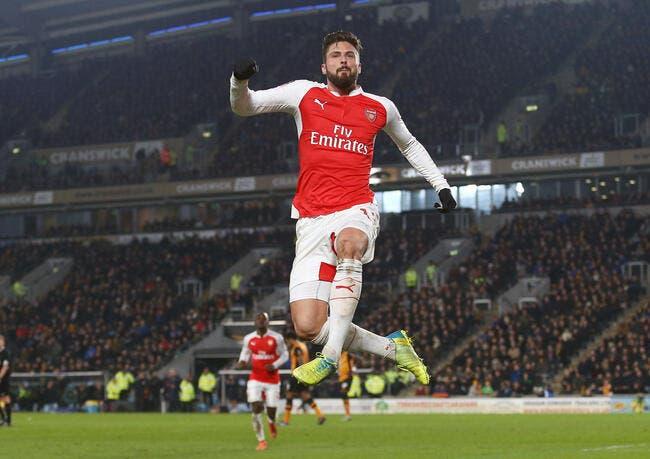 Cup : Giroud voit double et Arsenal passe