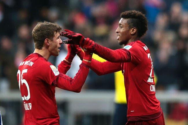 Bayern: Coman cartonne, Müller reste bouche bée