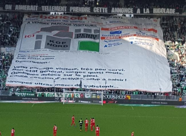 ASSE : La banderole des supporters qui frappe là où ça fait mal