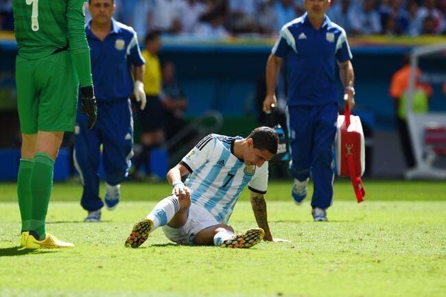 PSG: Di Maria sort sur blessure avec l'Argentine