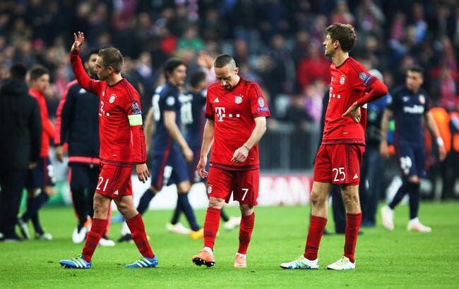 Le Bayern très déçu, et un peu mauvais perdant