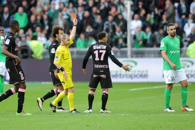 Deux matches de suspension dont un avec sursis pour Perrin (ASSE)
