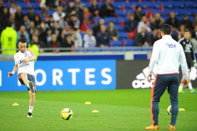 OL : Valbuena dans le groupe face à Monaco ? Un premier indice