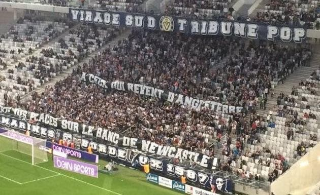 Bordeaux : Les supporters chambrent, Newcastle l'a mauvaise