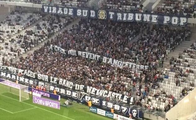 Bordeaux: Les supporters chambrent, Newcastle l'a mauvaise