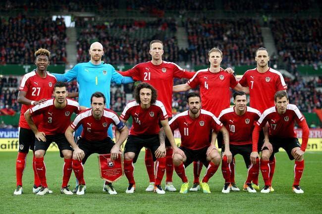 La liste de l'Autriche pour l'Euro
