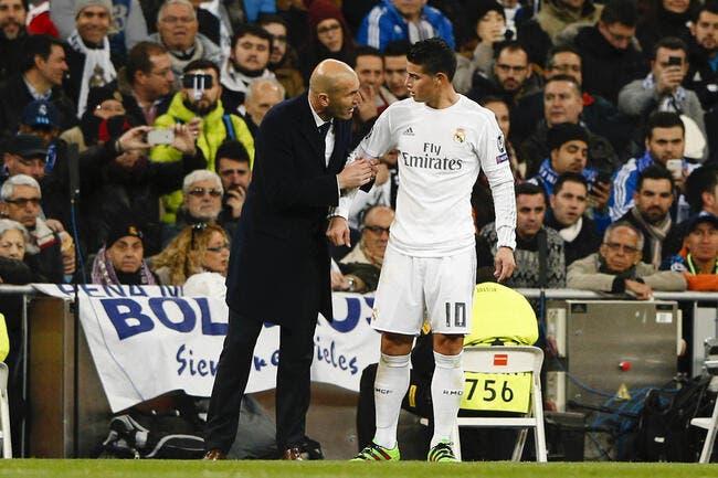 Real: En colère contre Zidane, James Rodriguez se rebelle
