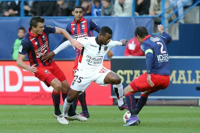 Nice : Caen, le jeu d'une équipe de National balance Cyprien