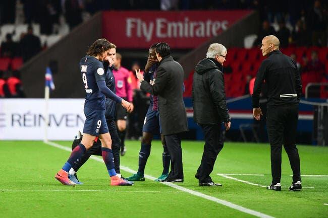 PSG : Cavani part en Uruguay avec une petite blessure