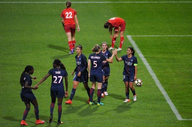 LdC féminine : Le PSG rejoint facilement l'OL en quart de finale