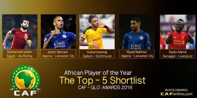 Les 5 candidats au titre de joueur africain de l'année 2016