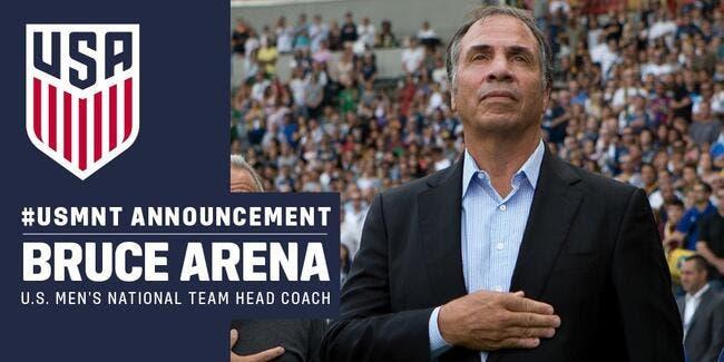 USA : Bruce Arena nouveau sélectionneur des Etats-Unis