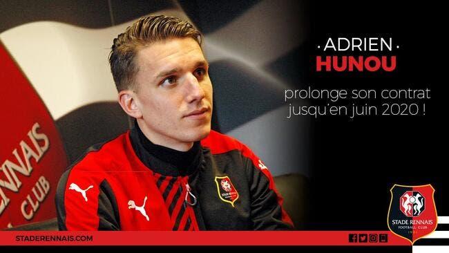 Officiel : Hunou prolonge à Rennes jusqu'en 2020