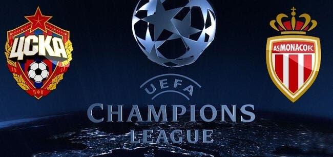 CSKA Moscou - Monaco : Les compos (20h45 sur BeInSports 2)