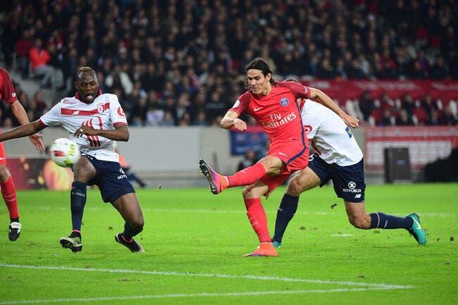 Cavani finit par marquer, et le PSG s'impose à Lille