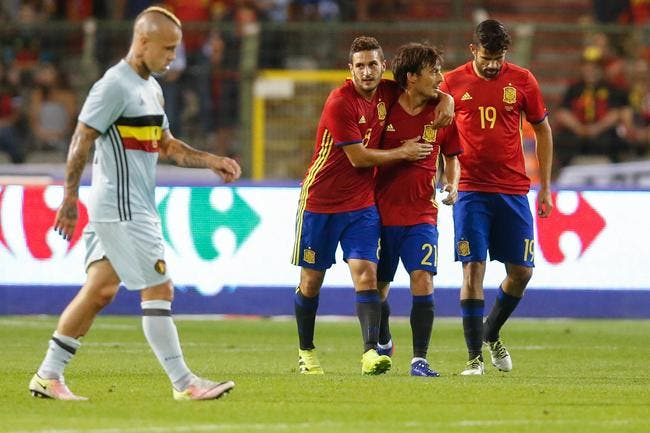 Belgique - Espagne : 0-2