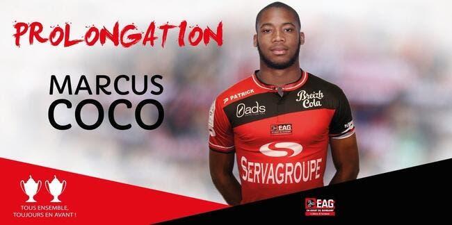 EAG : Marcus Coco prolonge à Guingamp jusqu'en 2020