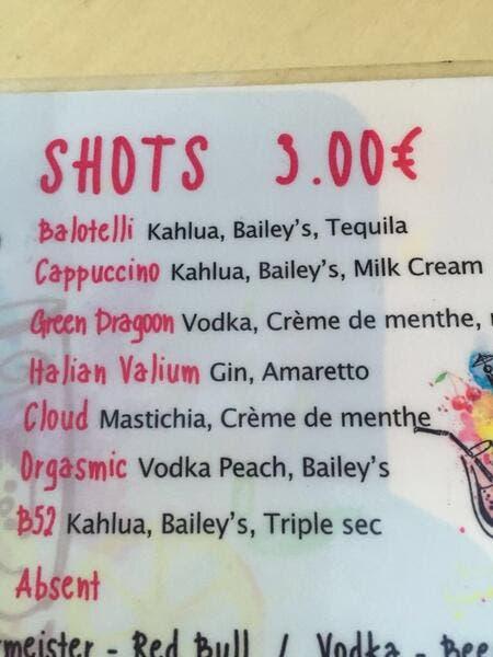 Nice : Balotelli s'amuse d'être vendu comme un shot dans un bar