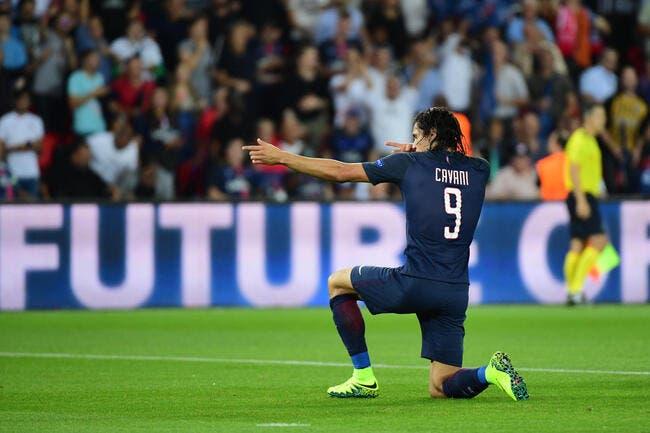 PSG: Cavani marque quatre buts et sort à la mi-temps