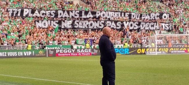 OL-ASSE : Le Peuple Vert n'ira pas «dans la poubelle du Parc OL»