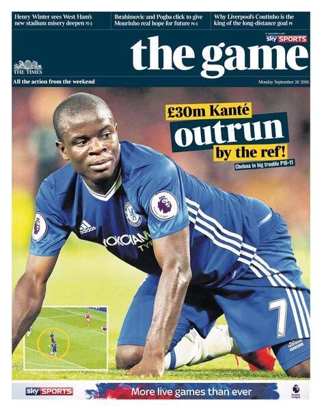 Chelsea : Kanté se fait humilier par un arbitre... et la presse anglaise
