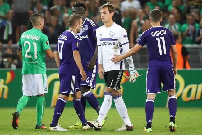 ASSE : Le gardien se rate, Anderlecht accuse les Stéphanois