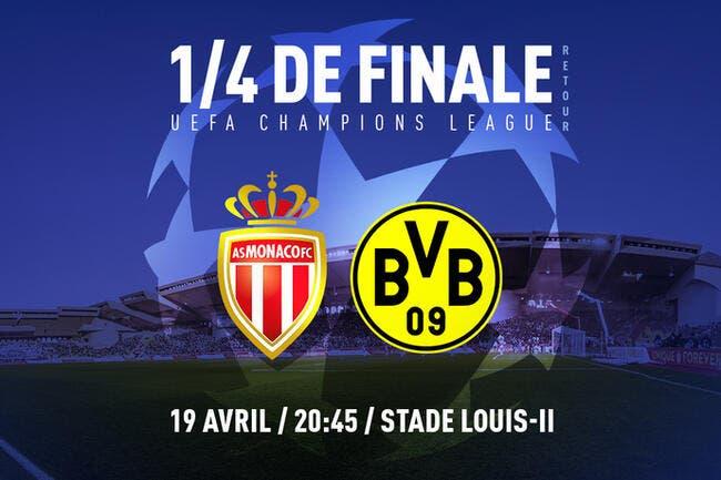 AS Monaco - Dortmund : Les compos (20h45 sur BeInSports 1)