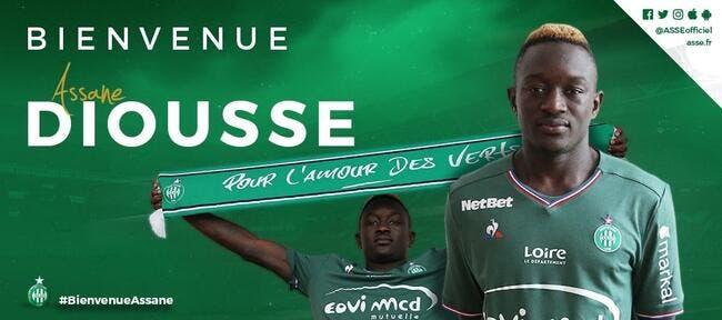 Officiel : Assane Diousse signe 5 ans à l'ASSE